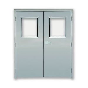 Fire rated both commercial doors overhead garage doors authority dock and door - Commercial double swing doors ...