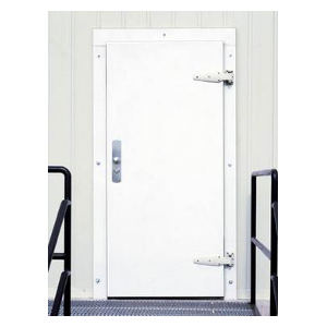 413 Single Infitting White Stucco Cold Storage Door