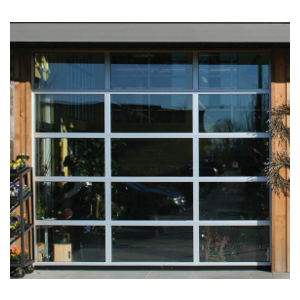 K-AL Aluminum Glass Sectional Overhead Garage Doors