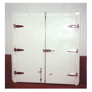 413D Double Infitting White Stucco Cold Storage Door