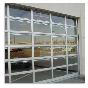 AlumaView Aluminum Glass Sectional Overhead Garage Doors