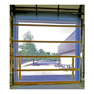 Durashield Bird Screen Overhead Vinyl Mesh Roll Up Door